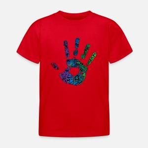 Hand Handabdruck Bunt Farbe Ornamente Geschenk Latzchen Spreadshirt