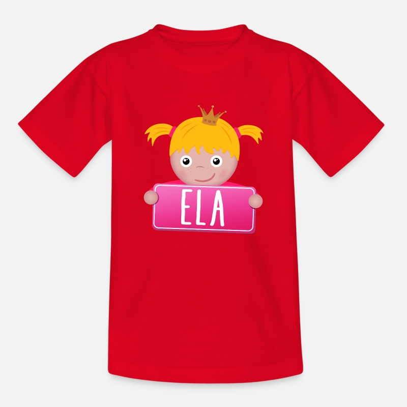 Baby On Board T-Shirts - Little Princess Ela - Kinderen T-shirt rood