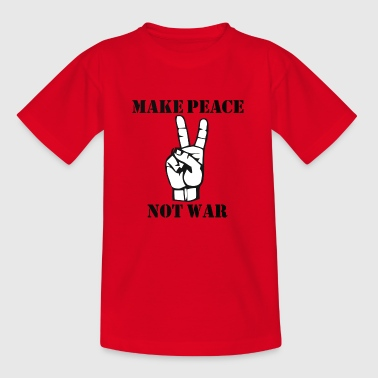 Pacifisme Make Peace Not War - Kinderen T-shirt