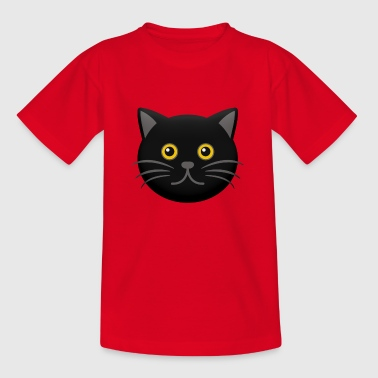 Cat Head Halloween Black - Camiseta niño