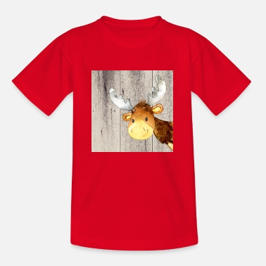 Animal friends in the forest - little moose - Kids' T-Shirt