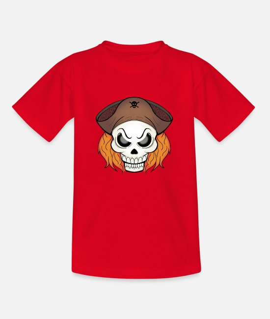 Skull And Bones T-Shirts - pirate skull - Kids' T-Shirt red