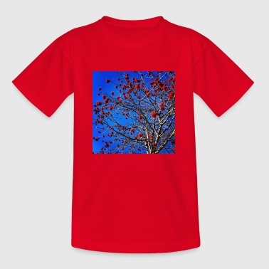 Red Flowers and Blue Sky - Kids' T-Shirt