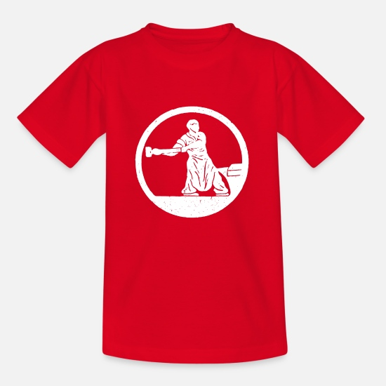 Hammer T-Shirts - Blacksmith and anvil - Kids' T-Shirt red