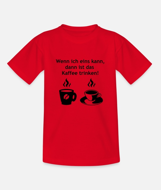 Office T-Shirts - Coffee drinking 2 - Kids' T-Shirt red
