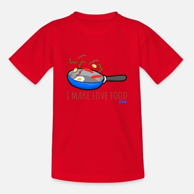 Koch I Make Love Food HARIZ Küche Kinder Geschenk - Kinder T-Shirt