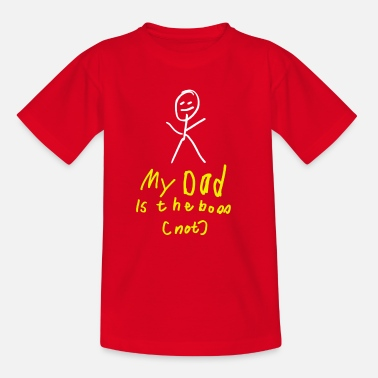 Painting Dad`s the Boss (NOT) - child's drawing Hand painted - Kids' T-Shirt