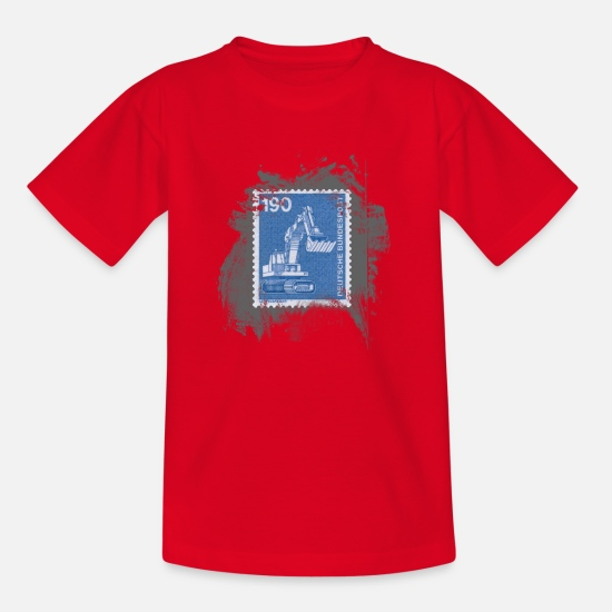 Stamps T-Shirts - Loeffelbagger - Kids' T-Shirt red