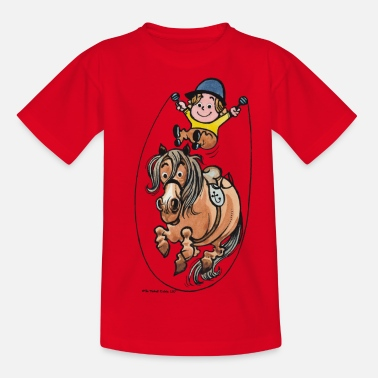 Norman Thelwell Thelwell Funny Rope Jumping Horse And Rider - Kids' T-Shirt