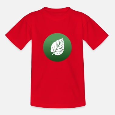 Leaf Nature Conservation Vegetarian Veggie Vegan - Kinderen T-shirt
