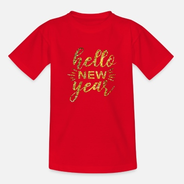 Message Hello new year - Kids' T-Shirt
