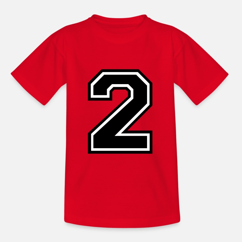 Number T-Shirts - Number 2 Two - Kids' T-Shirt red