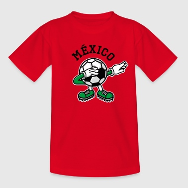 México Mexico dab dabbing soccer football - Kinderen T-shirt