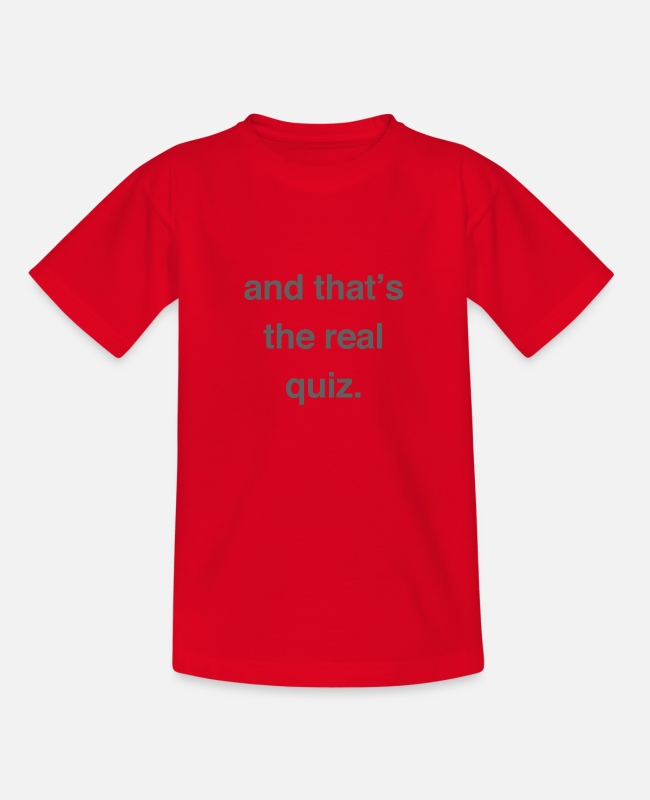 Employee T-Shirts - The Real Quiz - Kids' T-Shirt red