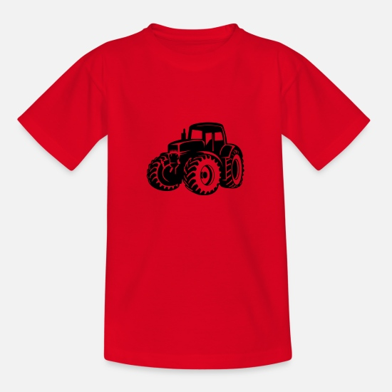 Country T-Shirts - tractor - Kids' T-Shirt red