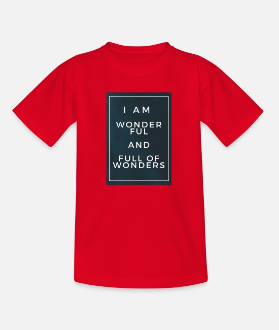 Quote T-Shirts - Wonderful and full of wonders - Kids' T-Shirt red