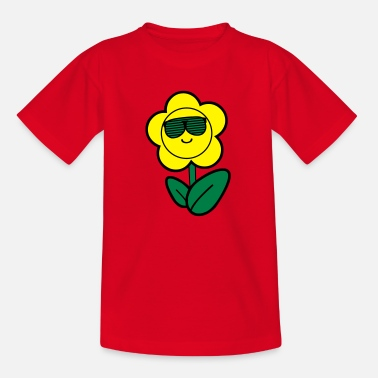 Sun cool flower 002 - Kids' T-Shirt