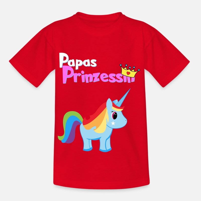 Papagaai T-Shirts - papas Princess - Kinderen T-shirt rood