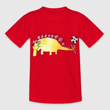 Fussball-Dino: Yello-Stego - Kinder T-Shirt