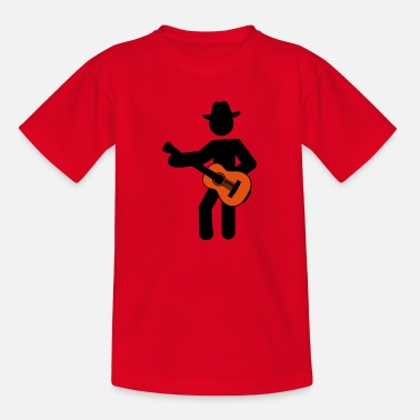 Silhouette guitare cow-boy - T-shirt Enfant