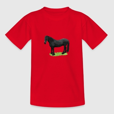 horse black - Kids' T-Shirt