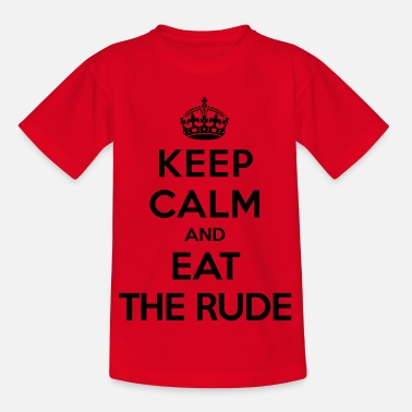 Series Keep calm and eat the rude (Hannibal) - Kids' T-Shirt
