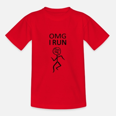 Omg Omg, I run - run, runner - Kids' T-Shirt