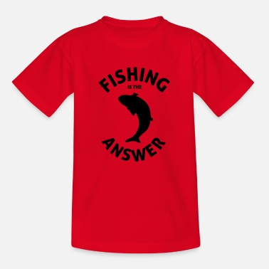 Junggeselle Fishing is the answer - Kinder T-Shirt