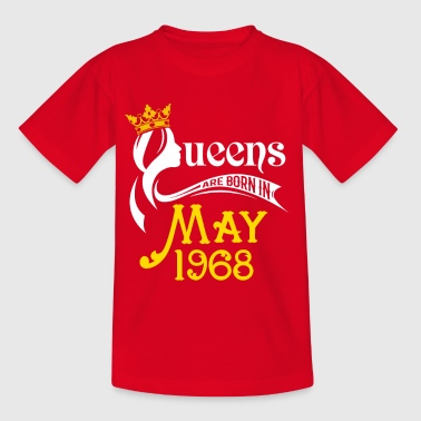 Queens Are Born In May 1968 - Kids' T-Shirt