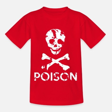 Grungy Grungy Warning Sign – Poison - Kids' T-Shirt