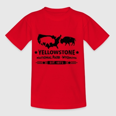 Buffalo Bison Buffalo Yellowstone National Park USA - Børne-T-shirt