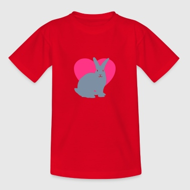 Rabbit heart - Kids' T-Shirt