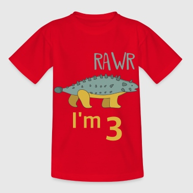 To the 3 birthday for boys Ankylosaurus - Kids' T-Shirt