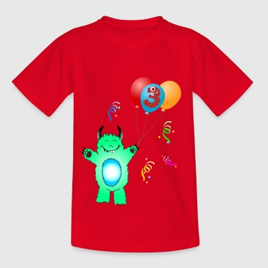 Birthday - Monster 3 years - Kids' T-Shirt