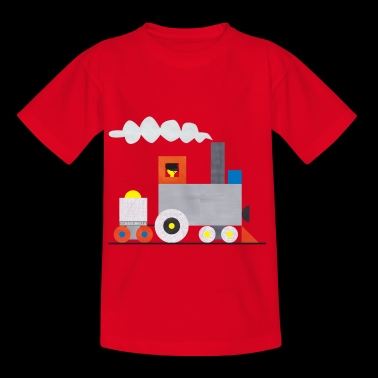Locomotive with trailer - Kids' T-Shirt