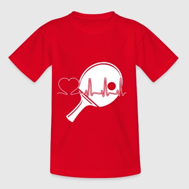 Gift Table Tennis Player, Table Tennis Heart - Kids' T-Shirt