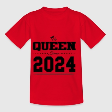 His Queen since Partner couple Valentinstag 2024 - Kinder T-Shirt