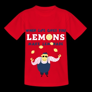 Lemon funny character lemonade child baby juice - Kids' T-Shirt