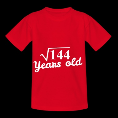 12th birthday: square root 144 Years old - white - Kids' T-Shirt