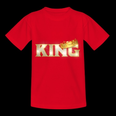 King with Swarovski stones and crown - Kids' T-Shirt