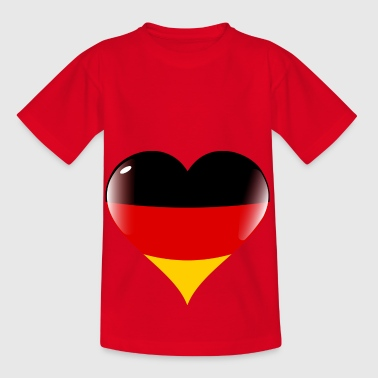 Germany heart for football - Kids' T-Shirt