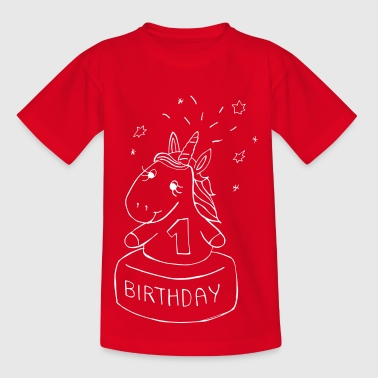 First Birthday Unicorn - T-skjorte for barn
