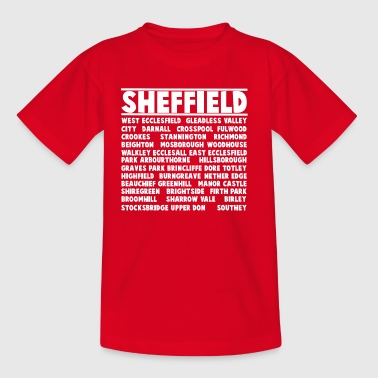 Sheffield City (Blanc) - T-shirt Enfant