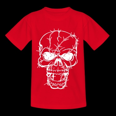 Barbed skull - Kids' T-Shirt