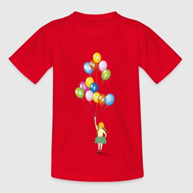 birthday baby girl balloons - Kids' T-Shirt