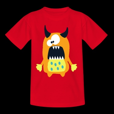Monster Hannah - Söt brun monster - T-shirt barn