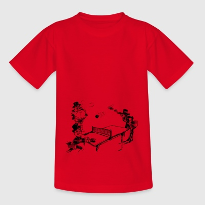 table tennis ping pong tischtennis bat5 - Kinder T-Shirt