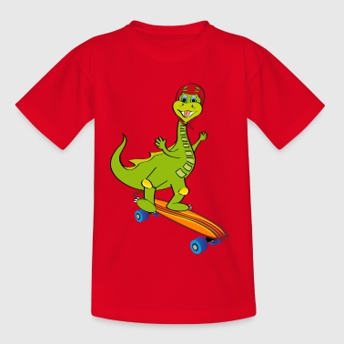 dragon skateboard - Kids' T-Shirt