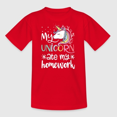 My unicorn ate my homework - Kids' T-Shirt