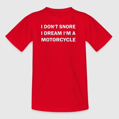 Do not snare dream motorcycle snore biker - Kids' T-Shirt